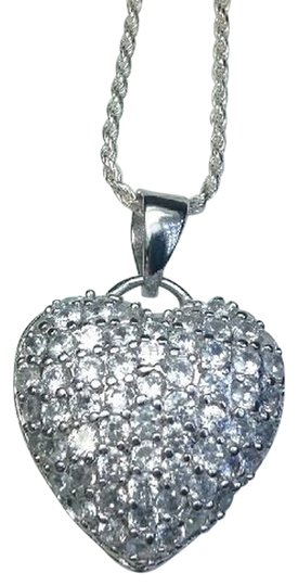 Sears Sterling Silver, Marked 925, 2 Sided Pave CZ's Heart; on other side, cut outs! Wear the side that suits your Mood!