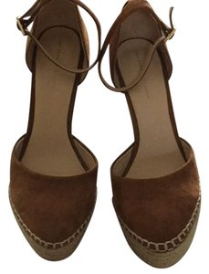 Zara Tan suede Platforms