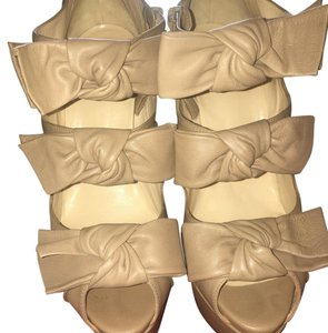 Christian Louboutin Beige or could be considered nude Platforms