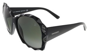 Swarovski Swarovski Shiny Black Oversized sunglasses