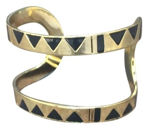 House of Harlow 1960 House of Harlow 1960 golden cuff w/black triangles