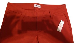 Old Navy Petite Straight Pants Red