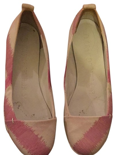 Burberry Pink And White Flats