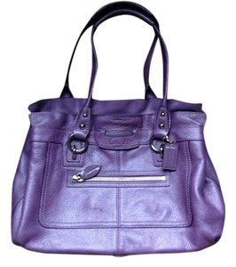 Coach Pebbled Leather Shoulder Bag