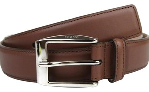Gucci Men's Leather Classic Square Buckle Belt 336831 Brown 2218, Size 46