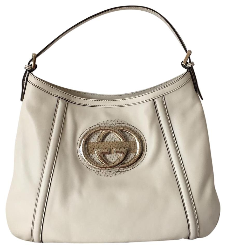 33f6b920d2df Gucci Britt Cream Leather Hobo Bag - Tradesy