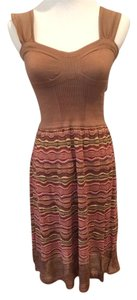 M Missoni short dress Brown (multicolor) Colorful Cap Sleeve on Tradesy