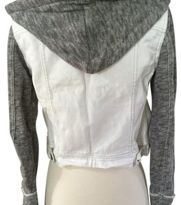 Free People White/grey Womens Jean Jacket