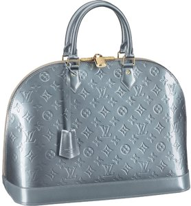 Louis Vuitton Leather Patent Leather Patent Satchel in Givre (silver)