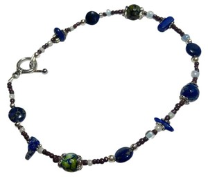 Other New Lapis & Dragon's Vein Agate Gemstone Anklet Ankle Bracelet J2823