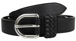 Gucci Men's Leather Orval Buckle Wrap Belt 336828 Black 1000, Size 42