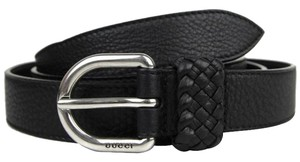 Gucci Men's Leather Orval Buckle Wrap Belt 336828 Black 1000, Size 38