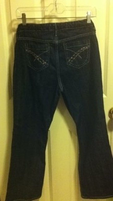 Gap Girls 12 Plus 28 25 Inseam Embellished Pockets 4 S Pants Navy Boot Cut Jeans