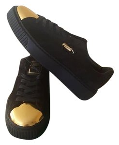 Puma Sneakers Platforms Flatforms Black Athletic