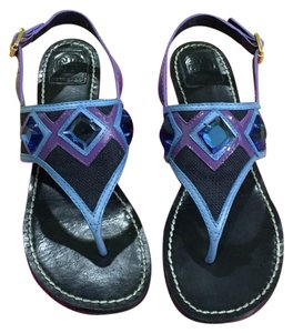 Tory Burch Purple/ Navy Sandals