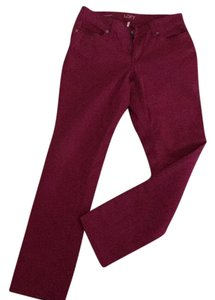 Ann Taylor LOFT Straight Pants Red