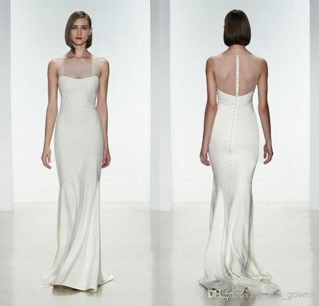 Item - Ivory Silk May Gown Modern Wedding Dress Size 4 (S)