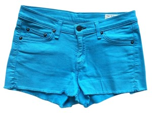 Rag & Bone Jean Cut Offs Cut Off Shorts Turquoise
