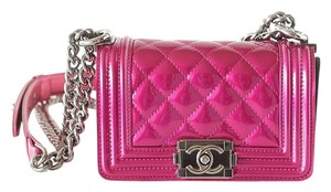 Chanel Mini Boy Fuschia Cross Body Bag