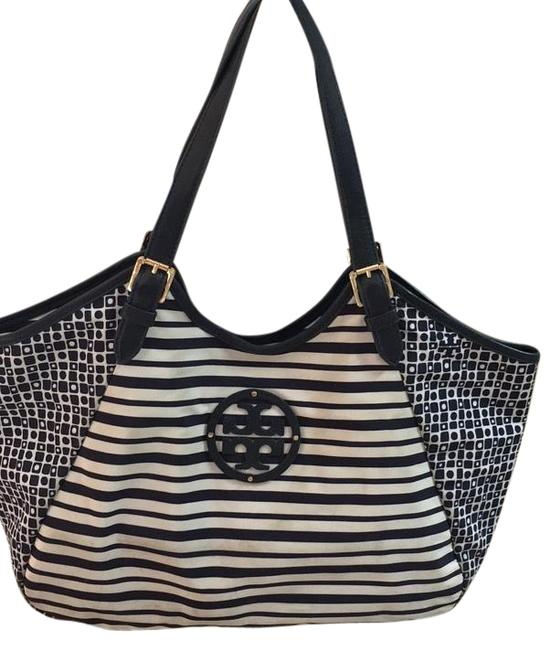 Item - Bag Navy Blue and White Nylon Tote