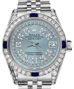 Rolex Rolex 36mm Datejust Ice Blue String Dial with Sapphire & Diamond