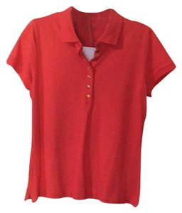 Talbots Button Down Shirt Coral/Orange