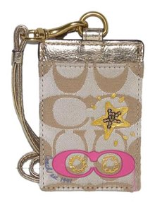 Coach Coach Graffiti Applique Lanyard Badge ID Card Holder, NWT 61012