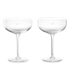 Kate Spade Clear Darling Point Champagne Glasses