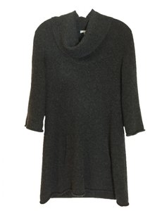 James Perse Cashmere Cowl Neck Tunic Sweater