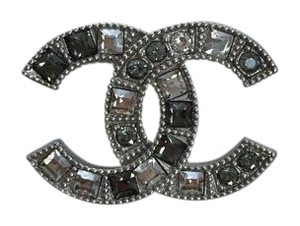 Chanel Chanel Interlocking CC Crystal Brooch