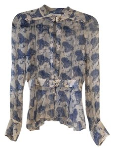 alice McCALL Pink Blue Silk Sheer Top