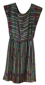 Alice + Olivia short dress Rainbow Multicolor Striped on Tradesy
