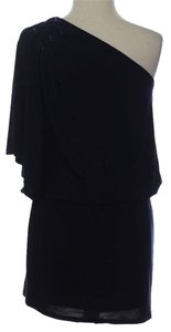 Jessica Howard 1 Shoulder One Shoulder Peep Above Party Sexy Black Spandex Stretchy Easy Fit Drape Blouson Assymetrical New New With Dress