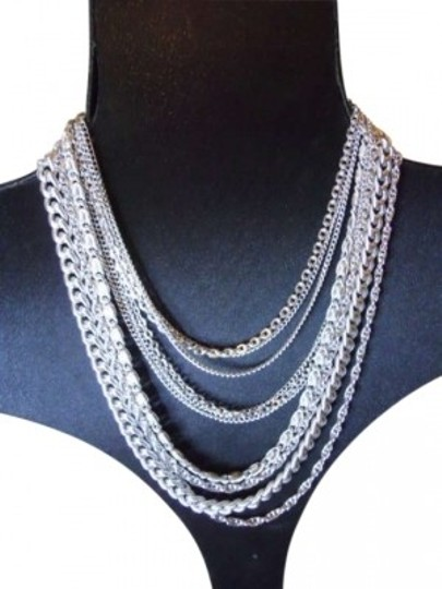 Preload https://item5.tradesy.com/images/silver-tone-vintage-multi-chain-necklace-185034-0-0.jpg?width=440&height=440