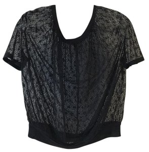 Marc Jacobs Eyelet Top Black