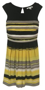 Max and Cleo short dress Yellow, Black, Gray, White on Tradesy