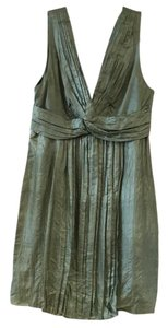Stella McCartney Iridescent Silk V Neck Dress