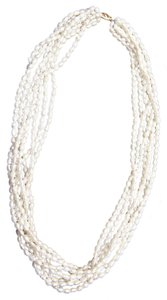 No Designated Name 7 Strand Freshwater Pearl Necklace 14kt gold Clasp