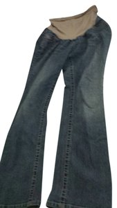 Indigo Blue full panel maternity bootcut jeans