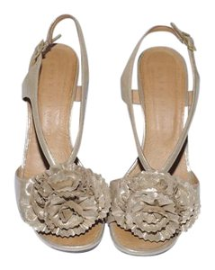Chie Mihara Party Gold Beige Sandals