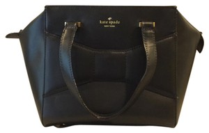 Kate Spade Avenue Leather Bow Classy Satchel in Black