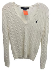 Ralph Lauren V-neck Knit Cotton Longsleeve Sweater