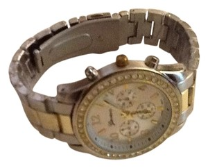 Geneva Crystal Two Tone Watch