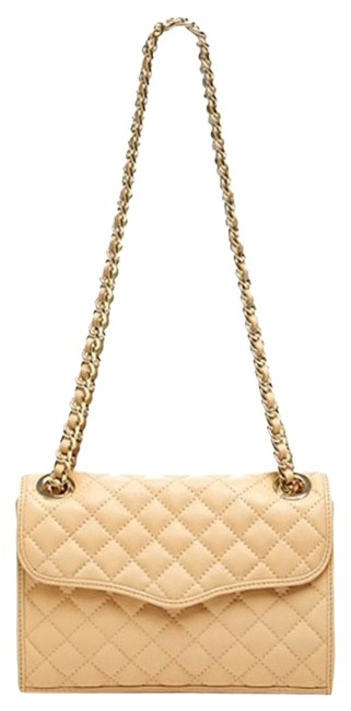 Item - New Quilted Mini Affair Biscuit/Light Gold Leather Shoulder Bag