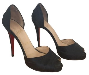 Christian Louboutin Navy Platforms