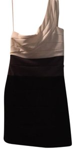 Trixxi short dress Black, white, gray on Tradesy