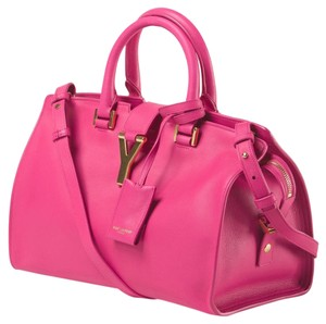 Saint Laurent Ysl Y-ligne Cabas Handbag Satchel in PINK FUCHSIA