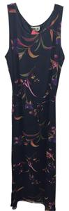 Navy Maxi Dress by Robbie Bee Maxi Sleeveless Floral Silk