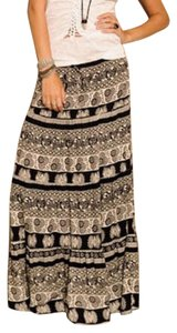 Blu Moon Maxi Skirt Black and white