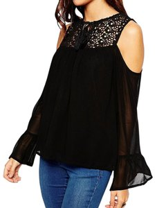 ASOS Lace Top Black